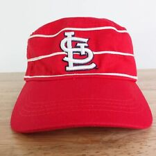 ST LOUIS CARDINALS LOGO RED PINSTRIPE FLEX MLB BASEBALL HAT CAP
