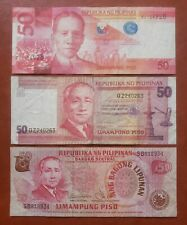 Philippines currency / money 50 pesos 3 types