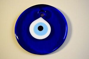 Multi-size Round Blue Glass Turkish Greek Evil Eye Nazar Amulet Good Luck Charm