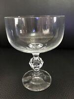 "Set of 4 Bohemia Crystal Claudia Wine Goblets Ball Stemware 5""H  X 3 1/5""D"