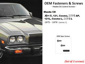 Quality OEM Fasteners; Heater/AC Control Screws (Rx5, Rx-5, Cosmo, 121, 121L)