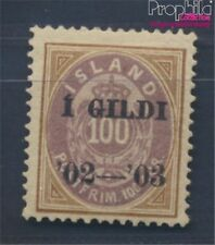 Iceland 34A with hinge 1902 print edition (8304891