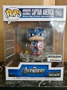 Funko Pop Vinyl - Marvel #589 Captain America - Amazon -Avengers Assemble deluxe
