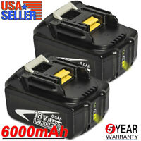 2 Pack For Makita BL1860B 18V Battery 6.0 AH LED Gauge 18 Volt LXT-400 BL1850B-2