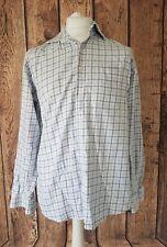 Mens Hugo Boss Long Sleeve shirt Blue White Check Plaid 15.5 Collar 48 Chest