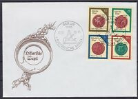 DDR FDC 3156 - 3159 ZD Zusammendruck mit SST Berlin Siegel 1988, first day cover