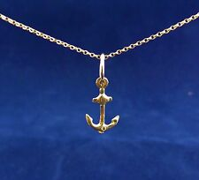 "9ct (375) Solid 3D Yellow gold charm ""Anchor"""