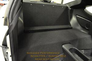 Scion FR-S Rear Seat Delete, Subaru BRZ, Toyota 86 Shrader Performance FT86