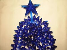 Ceramic Christmas Tree  Bulb 50 Royal Blue Medium Twist Lights w/ Star SPECIAL