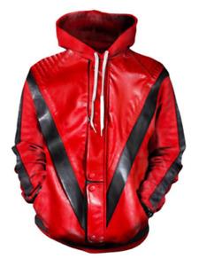 Michael Jackson Thriller Jacket3D Print Hoodies Men Casual Pullover Sweatshirts