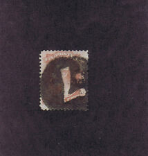 SC# 159 USED 6c LINCOLN, 1873, HUGE NEGATIVE NUMERAL 7 CORK CANCEL, PF CERT.