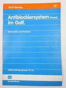 VW Audi SSP 81 Antiblockiersystem ABS Teves Golf 2 Jetta  Konstruktion Funktion