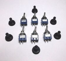 6 BBT Marine Grade On/Off 12 v,6 a Mini Toggle Switches w/ Waterproof Boots