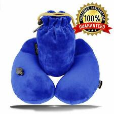 Neck Pillow Inflatable Car Travel Airplanes Sleeping Soft U Shaped Kids Adults