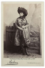 LILLIAN SMITH Trick Shooter Old West Vintage Photograph A++ Reprint Cabinet Card