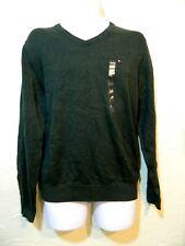 Tommy Hilfiger Forest Green 100% Cotton V-Neck pullover Sweater Mens Size L