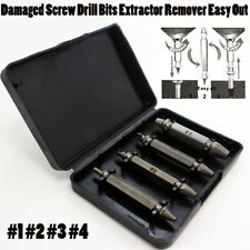 4pcs 1set Damaged Screw Drill Bits Extractor Remover Easy Out Bolt Stud Tool  AE