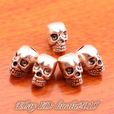 20pcs 12mm Charms Skull Spacer Beads DIY Jewelry Necklace Bracelet Silver H7068