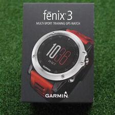 Garmin Fenix 3 Multi-Sport Training GPS Watch - Silver with Red Band - NEW