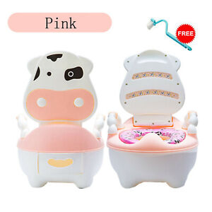 Lovely Cute Cow Potty Chair for Boys and Girls Toddler Potty Training Toilet UK