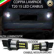 COPPIA LAMPADE RETROMARCIA 15 LED T20 W21W CANBUS MAZDA CX 7 6000K
