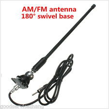 Universal Black Car SUV Roof Antenna Radio AM/FM Aerial With Mount Swivel Base