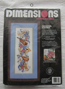 Dimensions Cross Stitch Kit*Orchestral Elegance*Music Instrustments Roses*SEALED