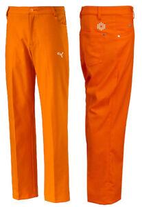 Puma Golf Junior 5 Pocket Golf Trousers Boys - RRP£30 - ALL SIZES - Kids Orange