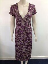 Viscose Short Sleeve Midi Wrap Dresses