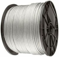 "Vinyl Coated Stainless Steel 304 Cable Wire Rope 7x7, Clear, 3/64"" - 1/16"""