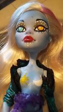 Custom OOAK Monster High Abbey Repaint Doll With Stand and Shirt by Edu Monroe