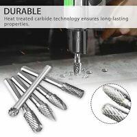 1/4 Inch Double Cut Tungsten Carbide Rotary Burr Die Grinder Shank Bit Set Parts