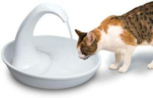 Pioneer Pet Swan Pet Drinking Fountain: 80 oz Water Capacity NEW in BOX CAT DOG