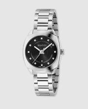 Reloj de mujer Gucci GG2570 YA142503 de acero con diamantes