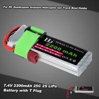 7.4V 2200mAh 25C 2S LiPo Battery for RC 1/16 TRAXXAS MINI E-REVO SLASH LVXL T2U2