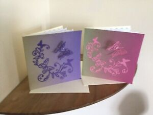 PACK OF 2  HAND MADE FEMALE  BIRTHDAY  CARDS/GA/3480