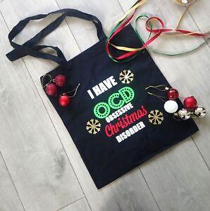 Ocd Christmas Bag Obsessive Christmas Disorder Tote Bag For Life Shopping Bag
