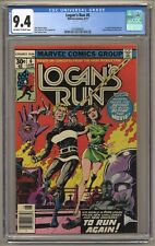 Logan's Run #6 (CGC 9.4) OW/W pages; 1st solo Thanos story; Newsstand (j#6150)