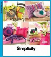 Simplicity Sewing Pattern 3953 Simply Teen Pillows and Bean Bag Animals