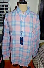 VINEYARD VINES Men's Classic Tucker Shirt Linen Russell Hill Plaid  Size XL  NWT