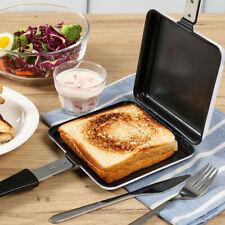 Sandwich Toaster Toastie Maker Grill Breakfast Camping Stove Toaster Aluminium