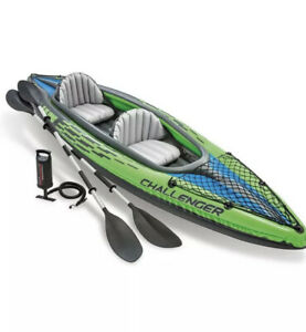 Intex K2 Challenger 2 Person Inflatable Canoe Kayak Green Blue Summer NEXT DAY