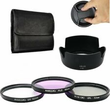 52mm UV CPL FLD Lens Filter Kit Hood HB-69 for AF-S DX 18-55mm f/3.5-5.6G VR II