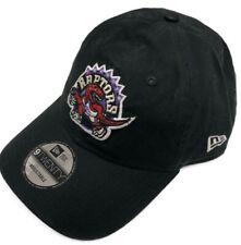 New Era Black Toronto Raptors Hardwood Classic Custom 9TWENTY Adjustable Hat OS