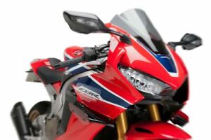 PUIG BLACK / RED DOWNFORCE SPOILERS RACE WINGS HONDA CBR1000R 17 - 20 M9729R