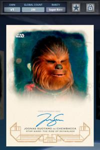 Topps Star Wars Galactic Heritage Rise of Skywalker Chewbacca Signature  DIGITAL