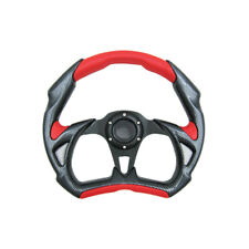 320mm Battle Style Steering Wheel Red PVC Leather Carbon Fiber Racing TRD