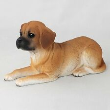 Puggle Dog Hand Painted Figurine Resin Statue Collectible puppy New