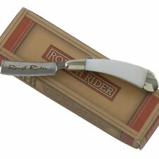 "Rough Rider White Pearl Handles Mini Razor Pocket Knife RR1363 2"" Closed Folding"