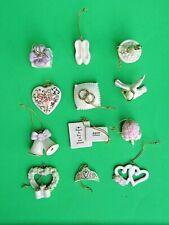 Lenox Wedding Day Bliss 12 miniature Tree Ornaments set New in Box